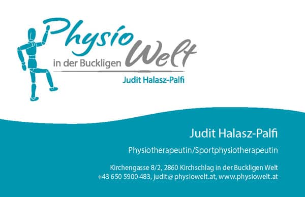 Physiowelt Visitenkarte vorne