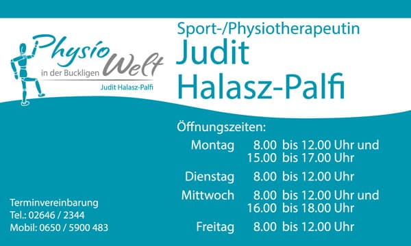 Physiowelt Tafel