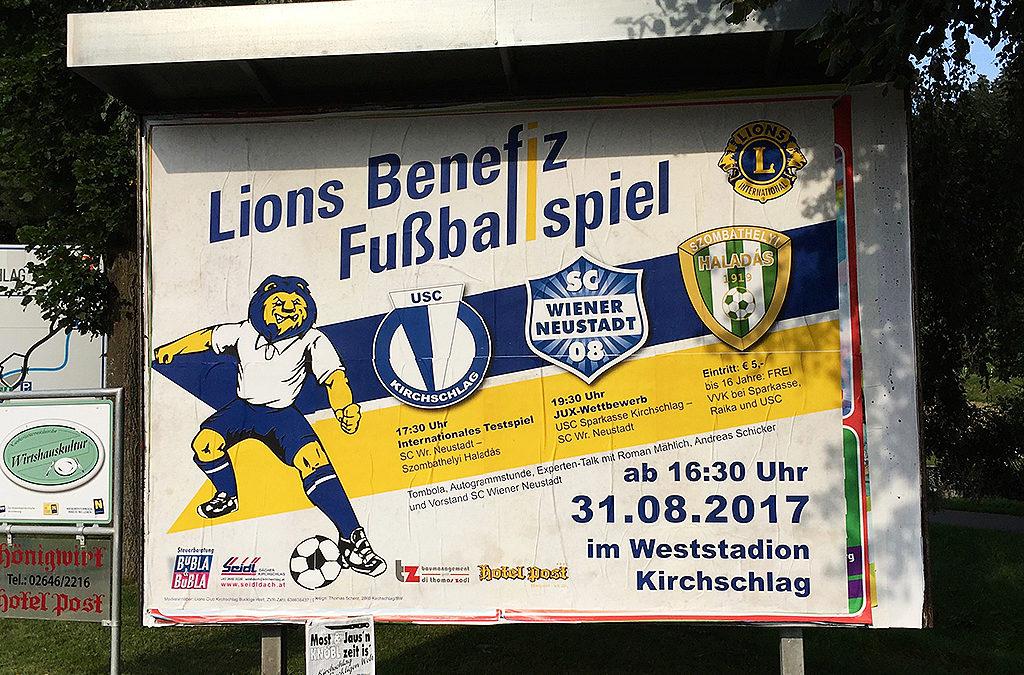 Lions Benefiz Fußballspiel