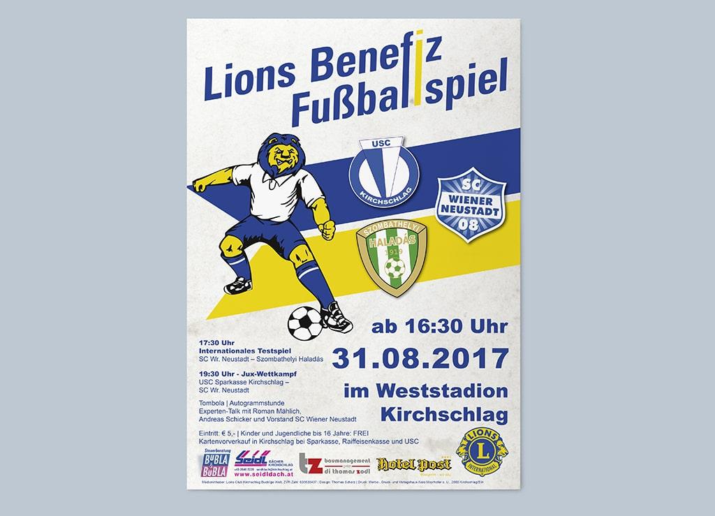 Lions Benefizfußball Plakat