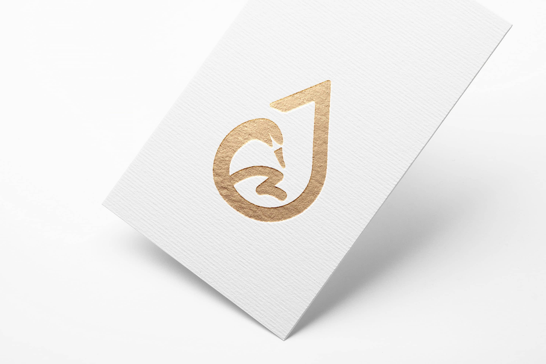 Metallic Foil Logo MockUp Entwurf B