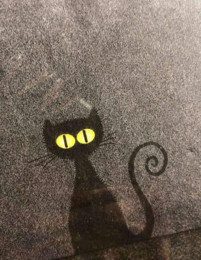Serviette schwarze Katze